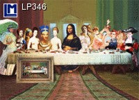 Lenticular Animation Postcard, Last Supper IV
