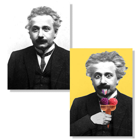 Cartes D'Art Einstein 3D Postcard
