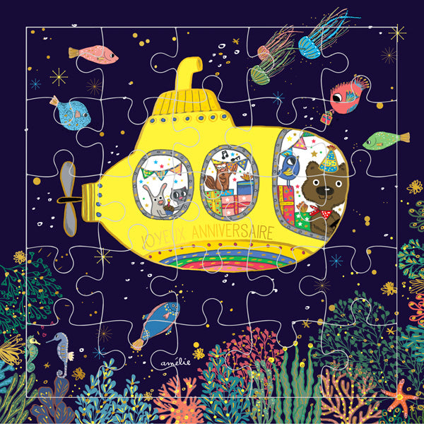 Yellow Submarine Puzzle Card