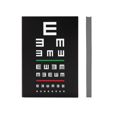 Signature Eye Chart Grid Notebook (A5, Black)