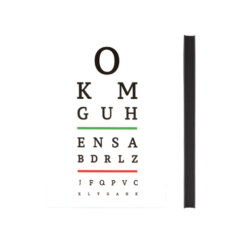 Signature Eye Chart Grid Notebook (A5, White)