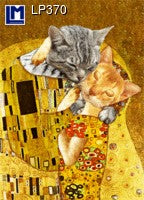 Lenticular Animation Postcard, Klimt Cat Faces