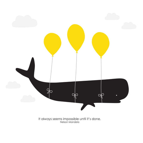 Heather Alstead Design Flying Whale Card
