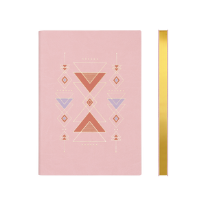 Signature Flat Geo Grid Notebook (A5, Pink)