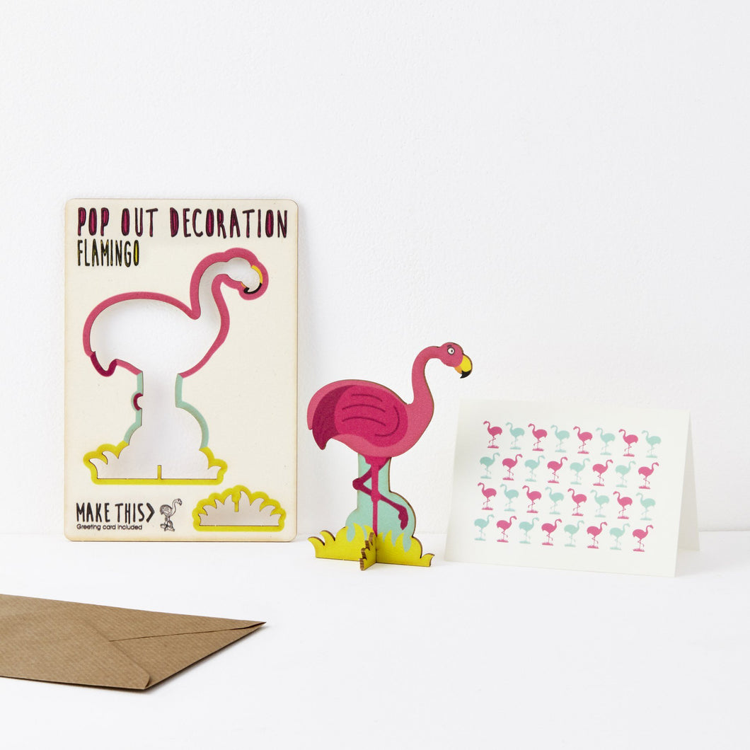 The Pop Out Card Company Pop Out Flamingo Card