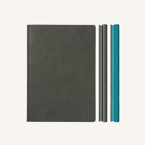 Daycraft Signature Duo Notebook - Grey / Blue