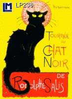 Lenticular Animation Postcard, Le Chat Noir by Toulouse Lautrec II