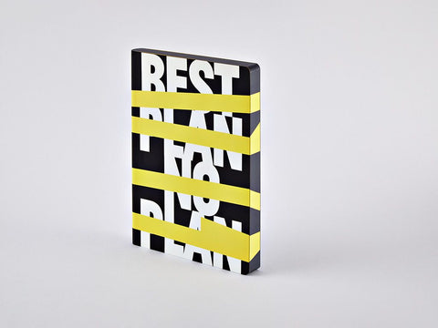 Best Plan - No Plan Graphic L Dotted Notebook, A5