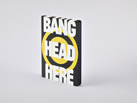 Bang Head Here Graphic L Dotted Notebook, A5