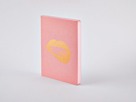 Glossy Lips Graphic L Dotted Notebook, A5