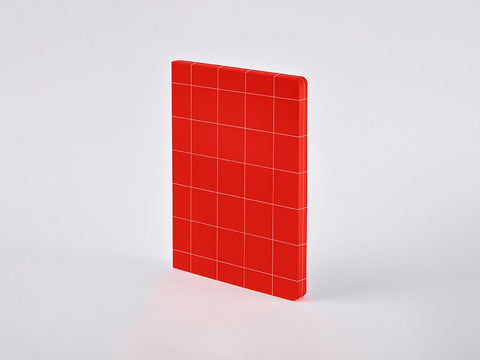 Break The Grid Red L Grid Notebook, A5