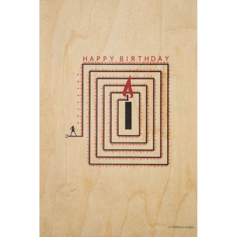 Happy Birthday Labyrinthe Postcard