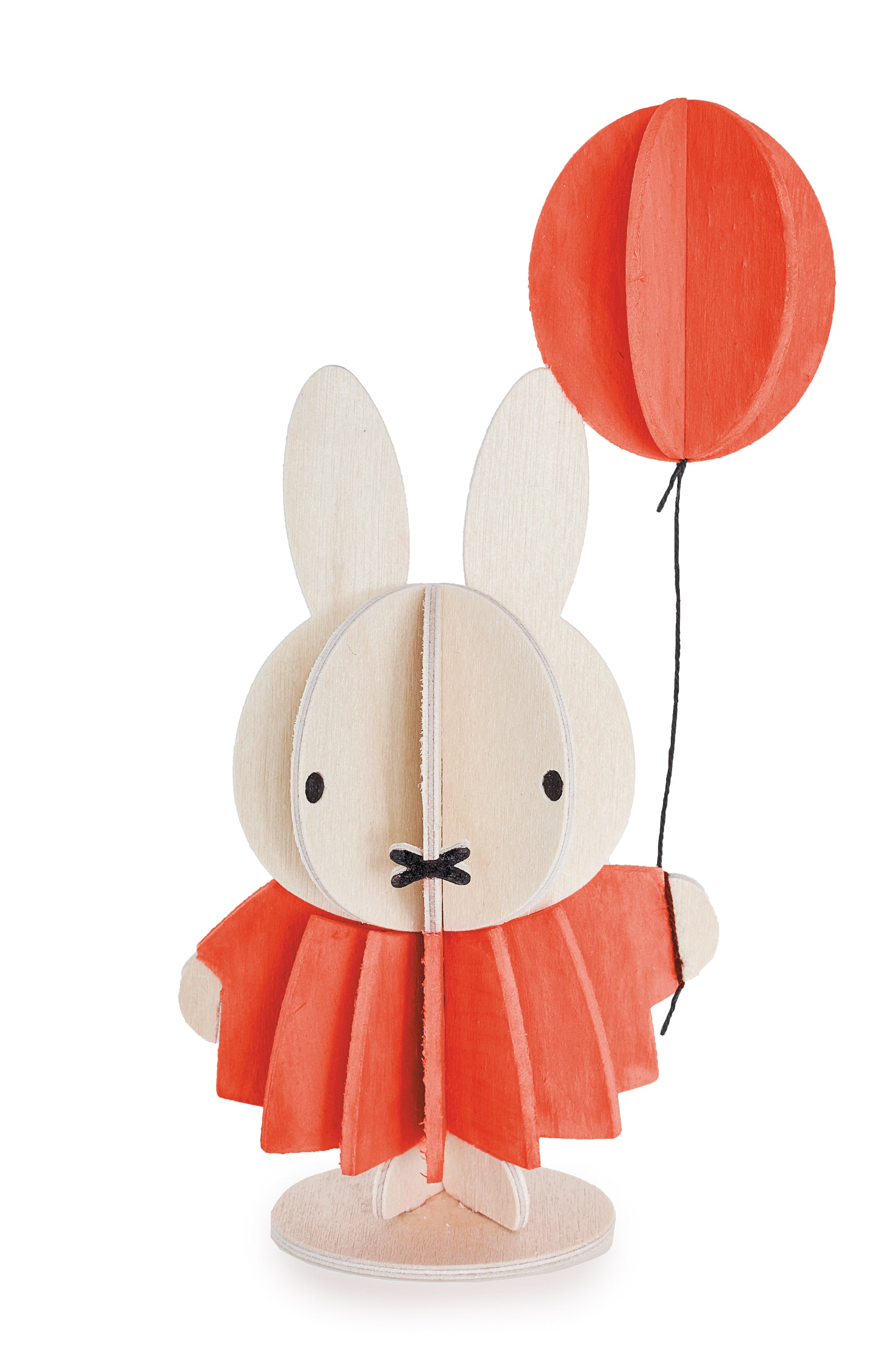 L Miffy & Balloon, Wood (13.5cm)