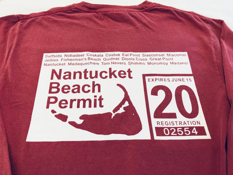 '20 Beach Permit tee in Island Red