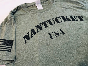 Nantucket USA - Salute to Service tee