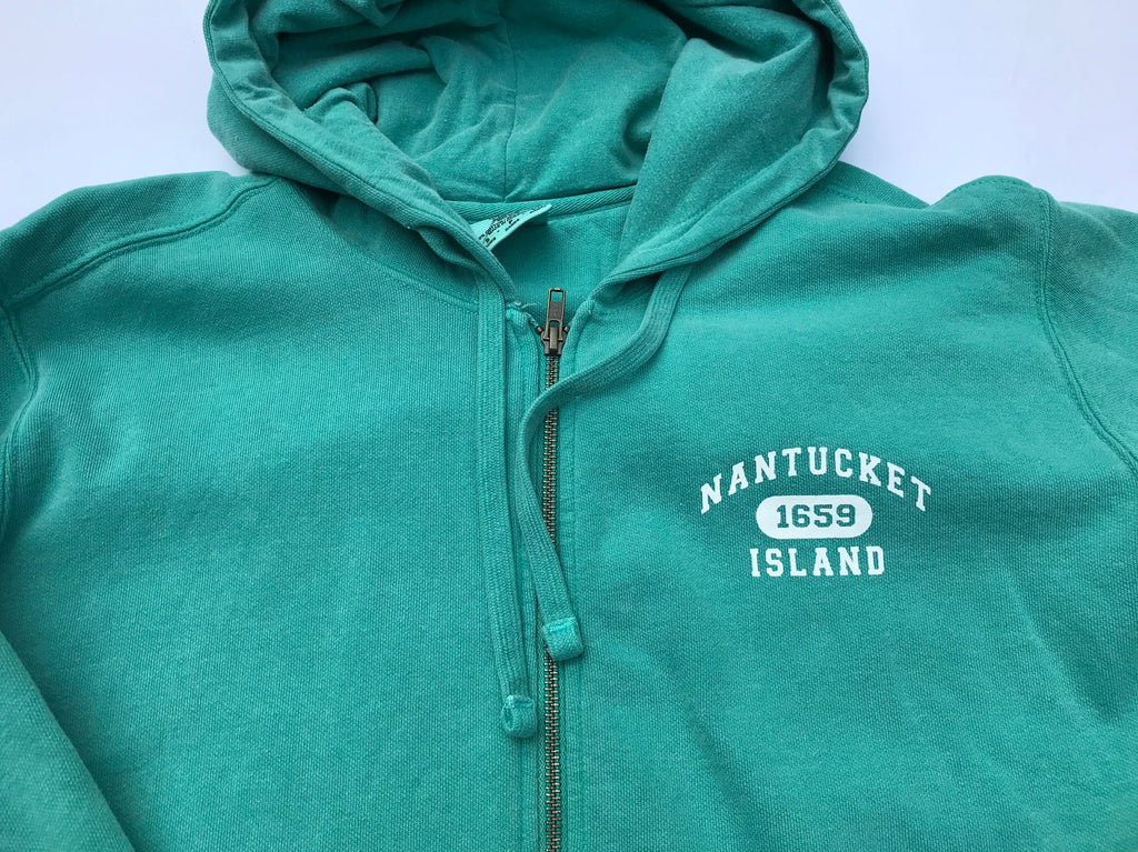 Ladies Hooded Zip in Seafoam