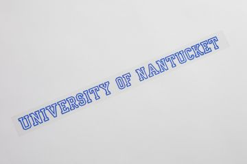 University of Nantucket Window Decal