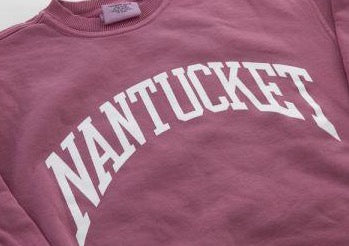 Nantucket Arch Crewneck in Island Red
