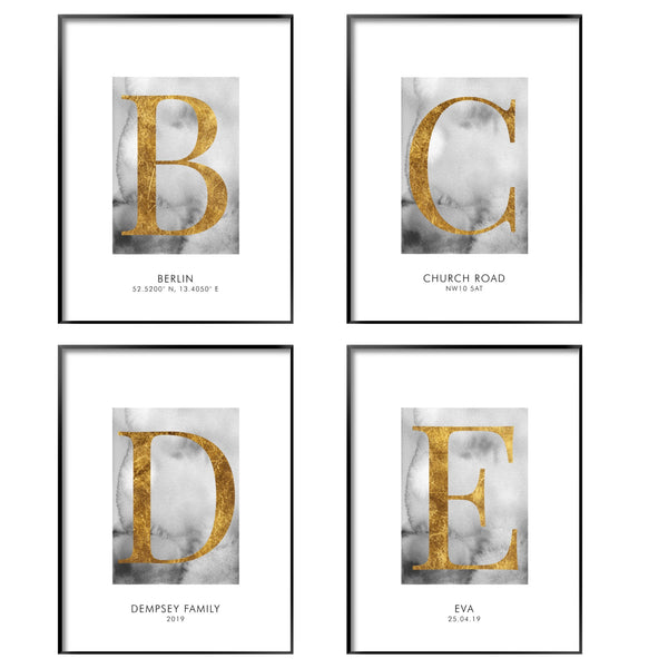 PERSONALISED GOLD ALPHABET