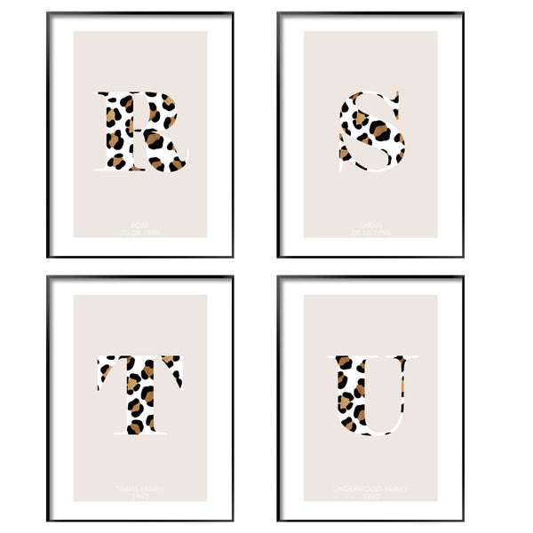 PERSONALISED LEOPARD PRINT ALPHABET