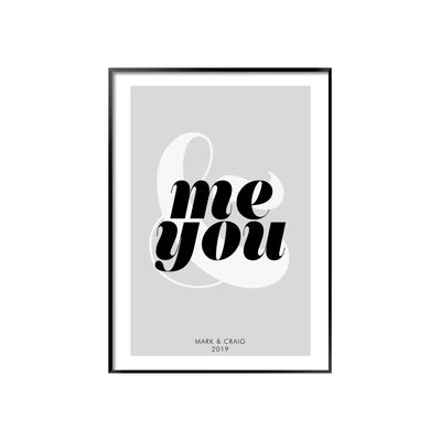 Print poster wall art personalised you me