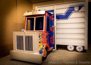 Optimus themed bed