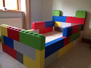 Building Block Themed Low Sleeper Bed