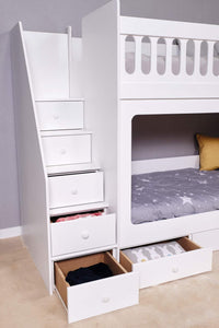 Brooke Bunk Bed With Drawers Underneath