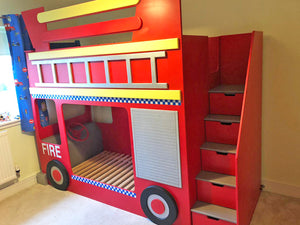 Fire Engine Themed Bunk Bed
