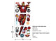 Marvel Iron Man Large Character Stikcer