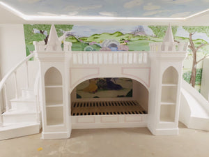 Luxury Wide Castle Themed Bunk Bed