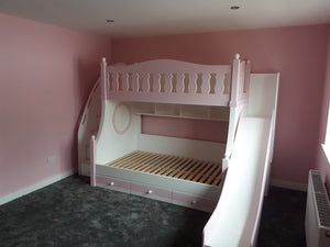 Deluxe bunk beds with slide