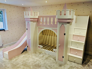 Max Castle Themed Bunk Bed With Wardrobes