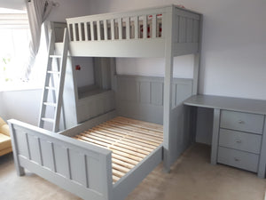 American Style Single Top Bunk Bed