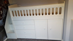 Cabin bed with built in storage