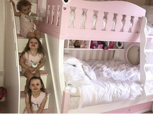 Deluxe bunk beds with drawer stairs