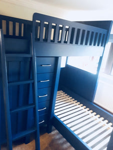 American Style Storage Bunk Bed