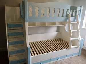Deluxe Morgan Bunk Bed With Drawers Underneath