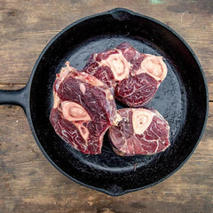 Regenerative, Grass-fed, Grass-finished Bison Osso Buco Steaks