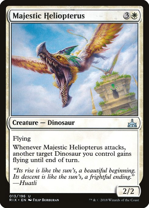 Majestic Heliopterus [Rivals of Ixalan] | Myrtle Beach Games & Comics