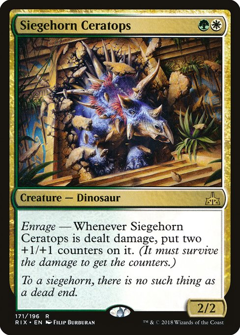 Siegehorn Ceratops [Rivals of Ixalan] | Myrtle Beach Games & Comics