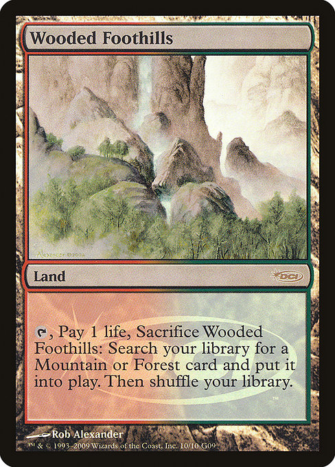 Wooded Foothills [Judge Gift Cards 2009] | Myrtle Beach Games & Comics