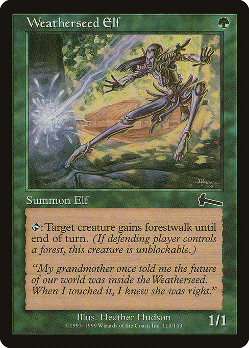 Weatherseed Elf [Urza's Legacy] | Myrtle Beach Games & Comics