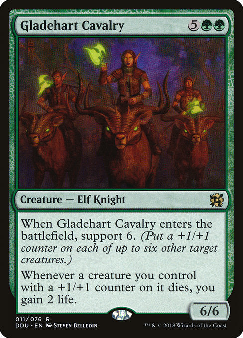 Gladehart Cavalry [Duel Decks: Elves vs. Inventors] | Myrtle Beach Games & Comics