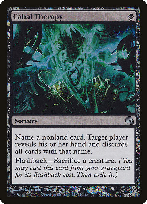 4 x MTG Cabal Therapy Eng Foil Premium Deck Series: Graveborn Moderate Play