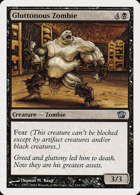 Gluttonous Zombie [Eighth Edition] | Myrtle Beach Games & Comics