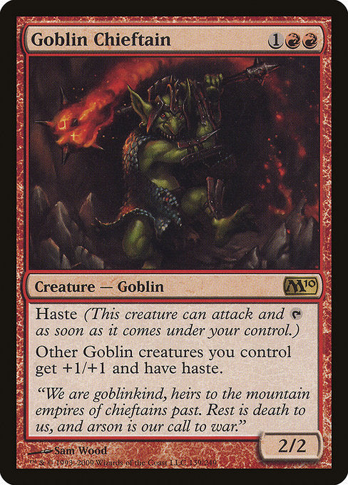 Goblin Chieftain [Magic 2010] | Myrtle Beach Games & Comics