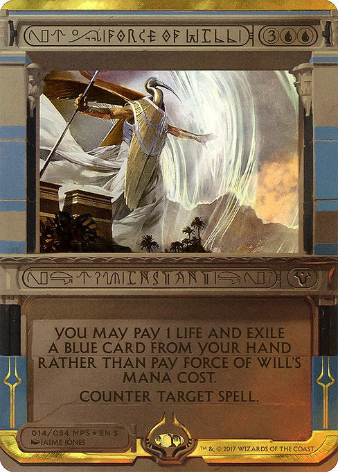 Force of Will [Amonkhet Invocations] | Myrtle Beach Games & Comics