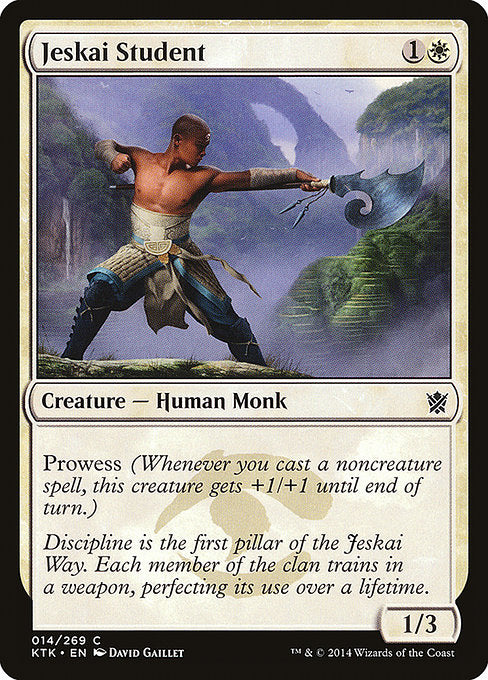 Jeskai Student [Khans of Tarkir] | Myrtle Beach Games & Comics
