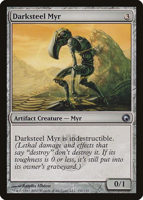 Darksteel Myr [Scars of Mirrodin] | Myrtle Beach Games & Comics